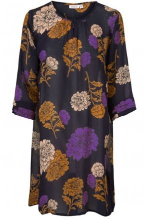 Grith Violet Floral Tunic