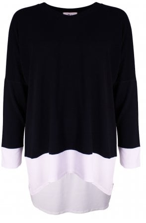 Black & White Oversized Top