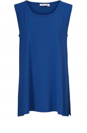 Elta Royal Blue Sleeveless Top