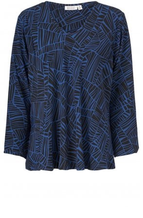 Kala Blue Patterned Top