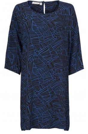 Nitassa Blue Patterned Dress