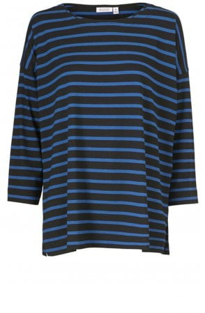 Bluma Blue Striped Top