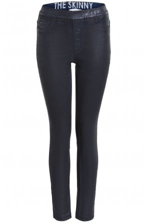 Black Wet Look Jeggings