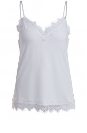 Off White Lace Detailed Camisole