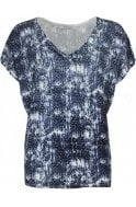 Lauren Vidal Patterned Rhinestone Detailed Top