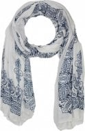 Cream & Blue Print Scarf