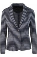 Metallic Striped Fitted Jacket
