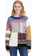 Desigual Clothing Fluor Vibrant Knit Sweater