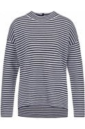 Navy & Grey Striped Top