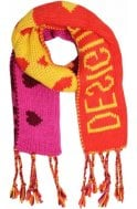 Desigual Clothing Mensajes Chunky Knit Scarf