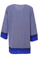 Masai Clothing Genista Greek Blue Patterned Tunic