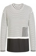 Oui Striped Layered Effect Jumper