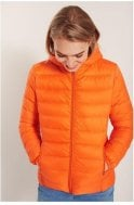 b.young Tulip Orange Quilted Jacket