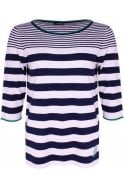 Olsen Ocean Blue Striped Jumper