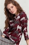 Bianca Striking Animal Design Blouse