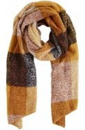 b.young Mustard & Copper Check Scarf