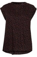 b.young Copper Spot Print Blouse