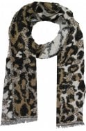 b.young Soft Leopard design Scarf