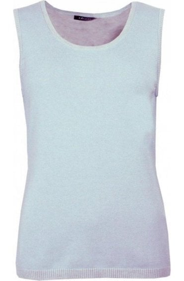 Pale Blue Sleeveless Pullover