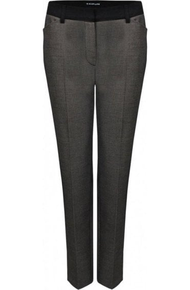 Small Print Tailored Trousers