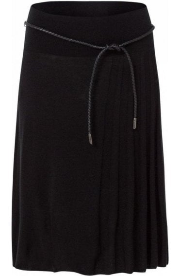 A Line Black Knit Skirt