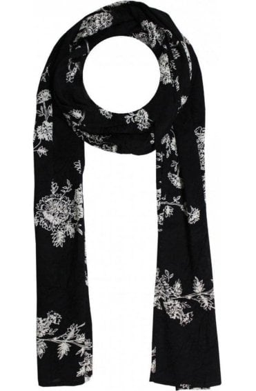 Along Floral Design Scarf