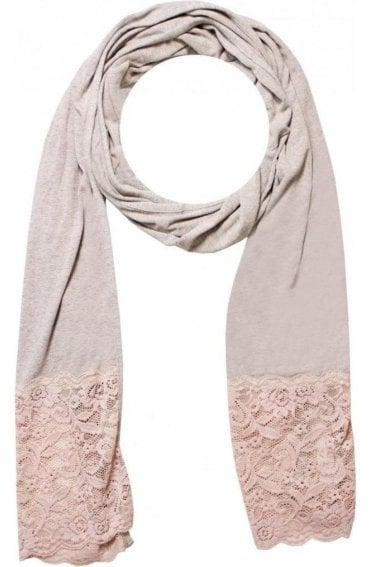 Deep lace bottom scarf