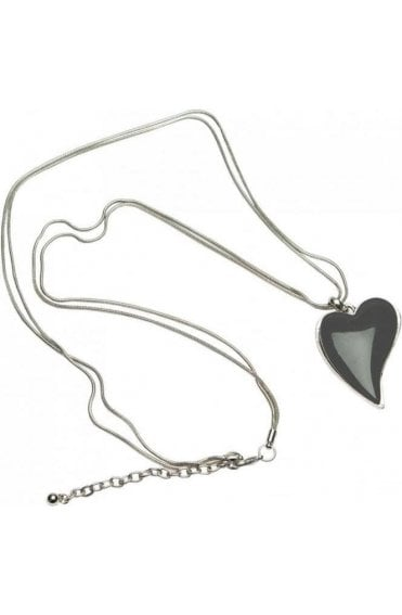 Grey Heart Pendant Necklace