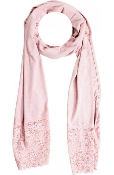 Pink Lace Detailed Scarf