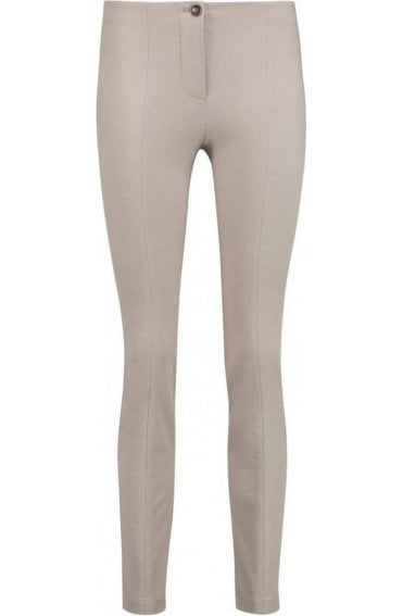 Slim Fit Taupe Trousers