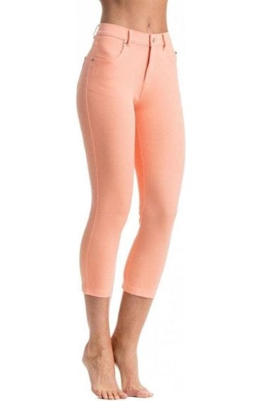 Orange Cropped Trousers