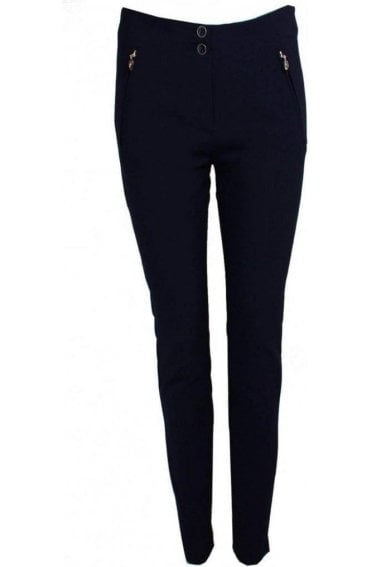 Navy Fitted Jeggings