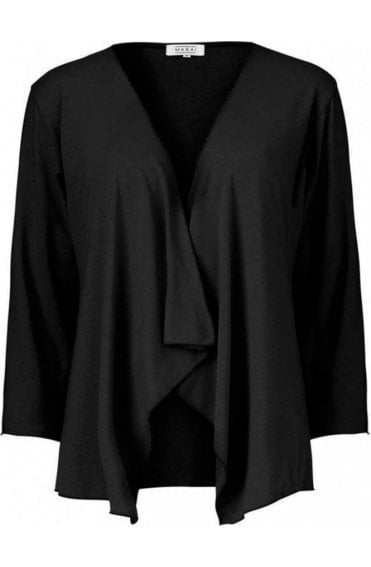 Itally Black Jersey Cardigan