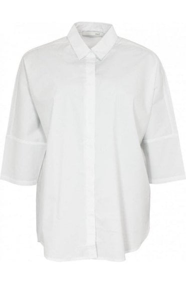 Over sized cotton white shirt