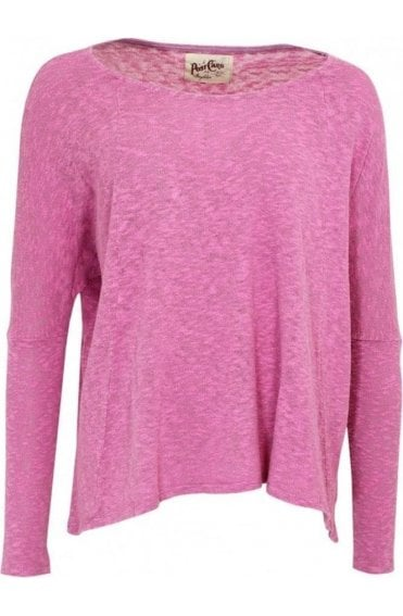 Pink Textured Knit Top