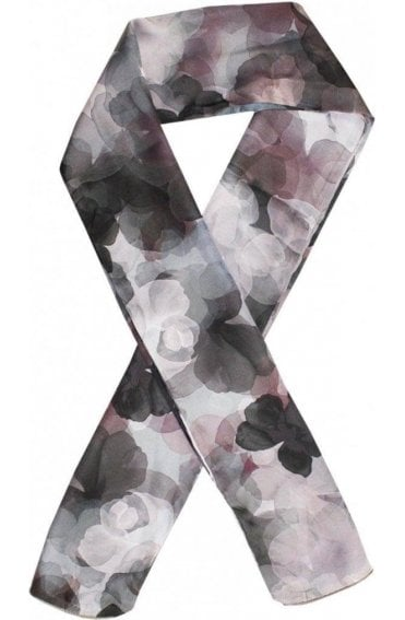 Silky Floral Print Scarf