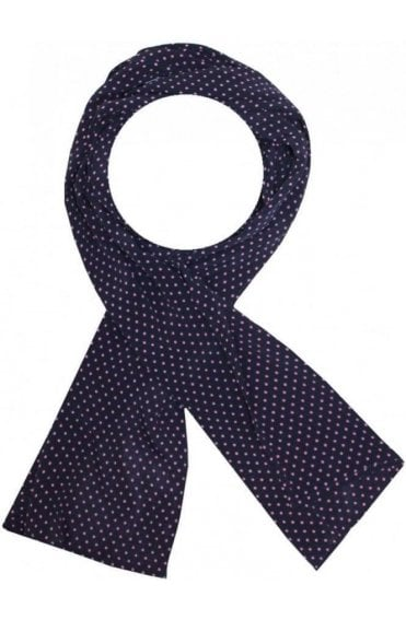 masai navy scarf with pink dots