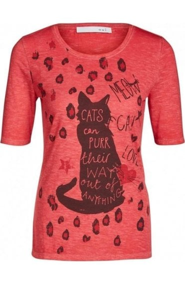 Red Cat Design T-Shirt