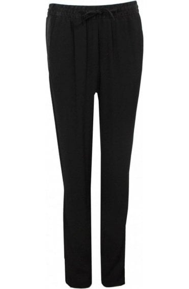 Black Side Panel Stripe Trousers