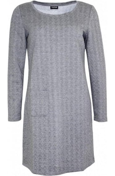 Grey Embossed Dress