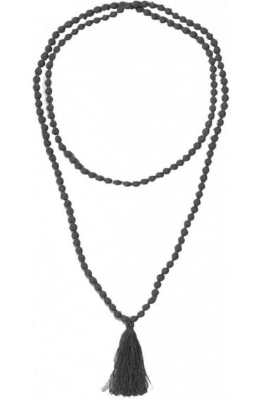 Ariel Black Bead Necklace