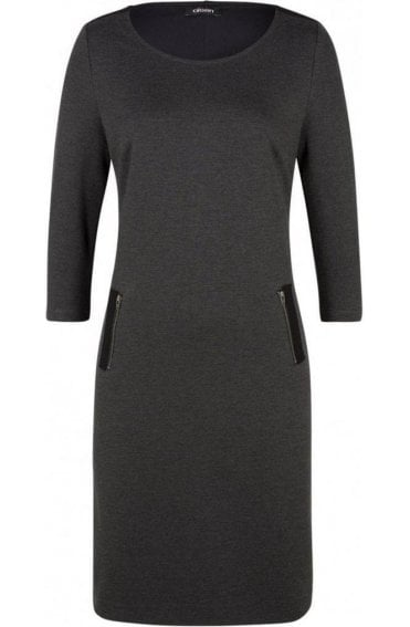 Dark Grey Jersey Dress