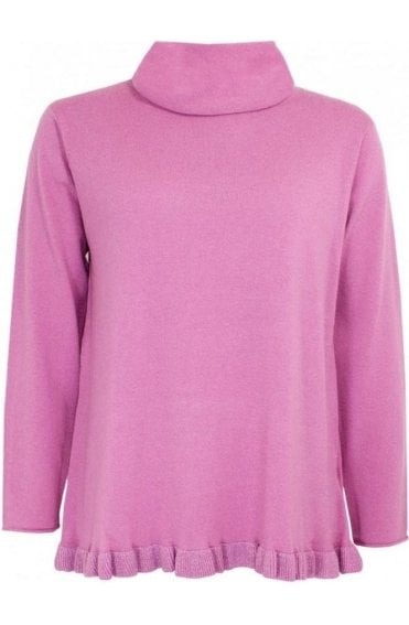 Flora Rose Roll Neck Sweater