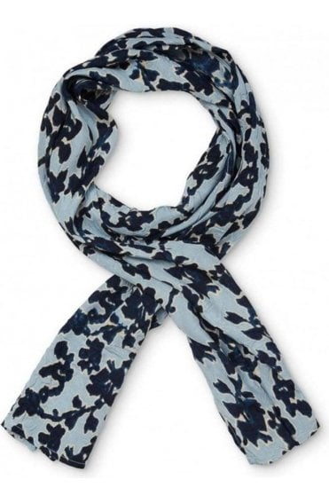 Along indigo and pale blue Scarf