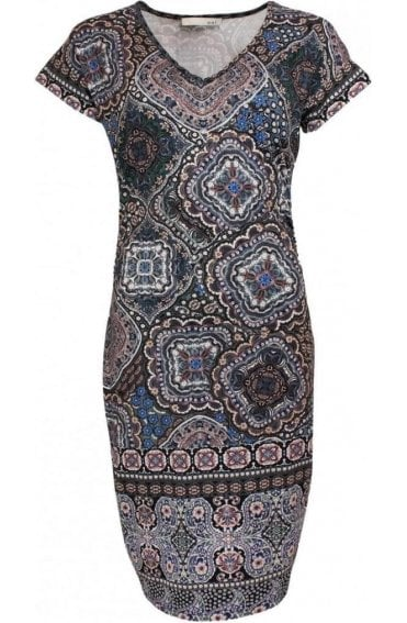 Patterned Shift Dress