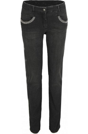 Dark Grey Denim Jeans