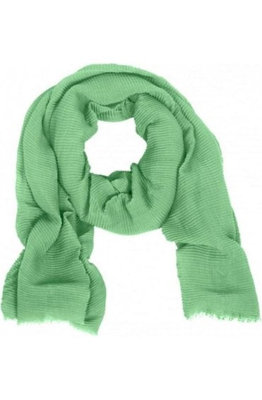 Green Fine Peated Scarf