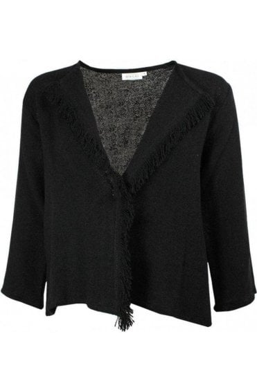 Jalil Black Woven Knit Jacket