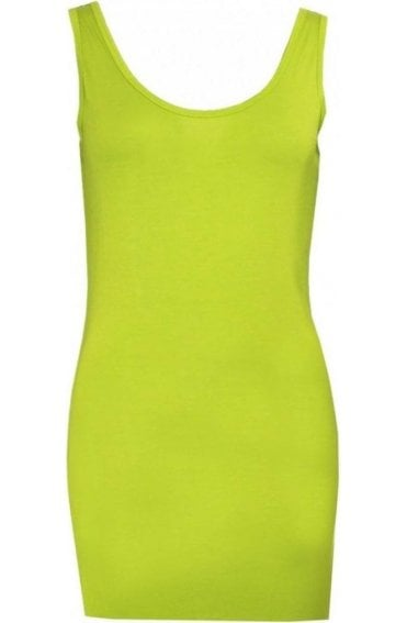 Lime Green Vest Top