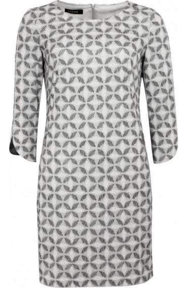Grey Patterned Shift Dress